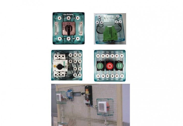 Experimentierboxen für die Gitterwand