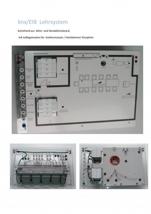 knx/EIB-Lehrsystem mit Auflagemasken