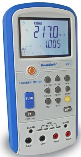 PeakTech® 2170 LCR-/ESR-Meter, 100 Hz - 100 kHz, mit USB