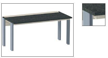 System-Tisch mit Granitplatte