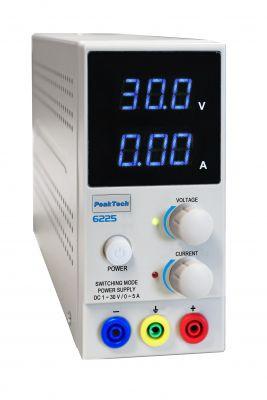 PeakTech® 6225 Labor-Schaltnetzteil DC 1 - 30 V/0 - 5 A