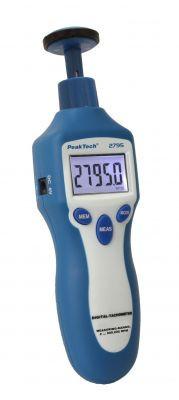 P2795 Drehzahlmessgerät Photo-Kontakt-Typ mit Laser, 5-stellig