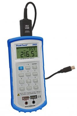 PeakTech® 2165 Digitaler LCR-Messer, 120 Hz-1kHz mit USB
