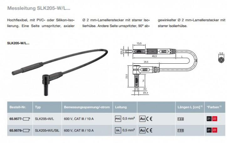 Messleitung SLK205-W/L...; 2 mm