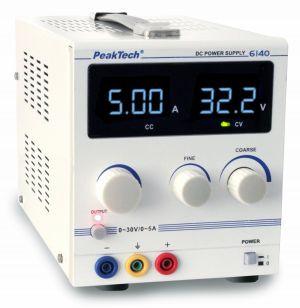 PeakTech 6140 Dig.Labornetzgerät 0 - 30 V/0 - 5 A DC