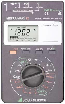 M212A METRAmax12 Digital-Analog Multimeter für Elektroanwendung