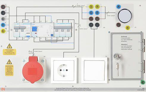 CO3109-8J  Unterverteilung m.Installationsschaltungen