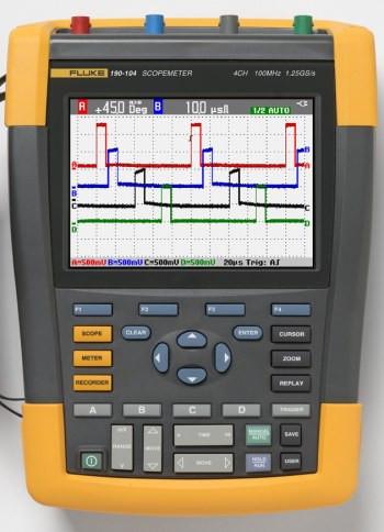 Fluke 190-104/EU S: Color ScopeMeter mit SCC-290