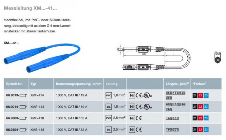 Messleitung XM...-41...; 4 mm