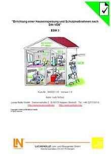 ESM 3.Hauseinspeisung VDE 0100; Handbuch