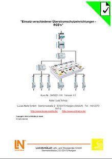 ESM 5  Überprüfung versch. RCD's; Handbuch