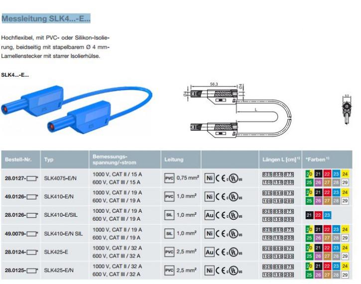 Messleitung SLK4...-E...: 4mm