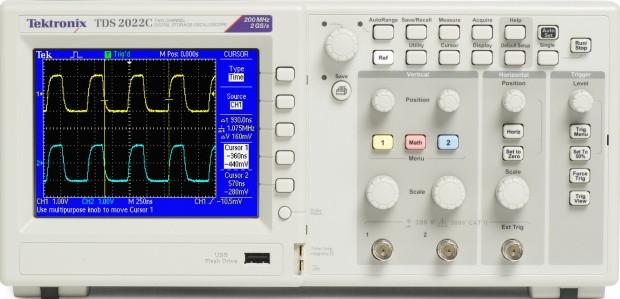 TDS2012C Farb-Digital-Oszilloskop 100MHz: /200 MHz
