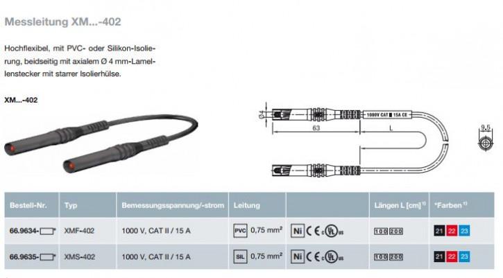 Messleitung XM...-402; 4mm