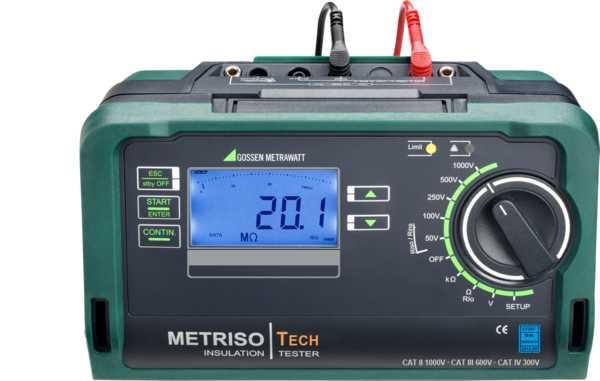 M550P METRISO TECH  Isolations-, Niederohm- und Spannungsmessger