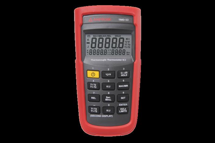 TMD-53 Digitales Thermometer Typ K/Typ J m.zwei Eingängen (Beha)